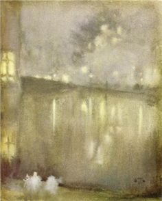 Nocturne Grey and Gold - Canal - James McNeill Whistler