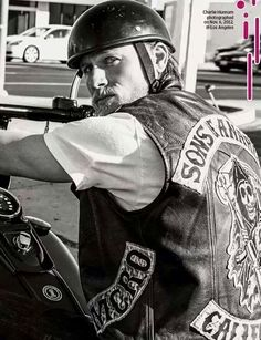 Nothing like Charlie Hunnam on a bike!!!