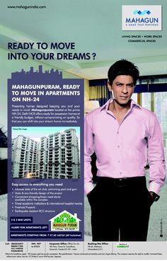 Mahagun Ad with Shah Rukh Khan