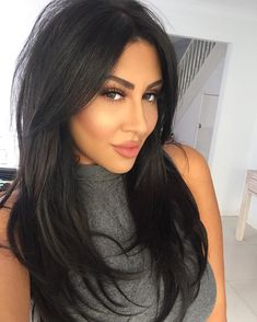 Super trendy long black hair in 2019 best black lace front wigs online Long Hair Cuts Black Front Hair Lace Long online super Trendy Wigs Layered Haircuts With Bangs, Haircuts For Long Hair, Long Hair Cuts, Long Hairstyles With Layers, Haircut Long Hair, Long Black Hair, Hair Color For Black Hair, Black Hair Layers, Medium Black Hair