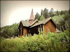 Stave Church in Rollag Norway by Jamlex on Etsy, $15.00