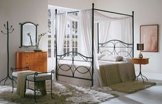 canopi, bedroom idea, bed lit, canopy beds, frame bed