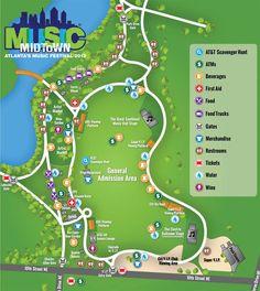 Music Midtown Festival Site Map