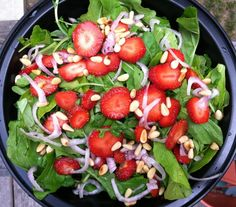 Summer Strawberry Arugula Salad with Maple Lime Vinaigrette