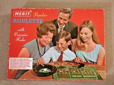 Vintage Merit Popular Roulette 1966 Set by J & L Randall of Potters Bar, England Best Family Board Games, Family Games, Gambling Games, Casino Games, Word Games, Fun Games, Lotto Games, Roulette Game, Traditional Games