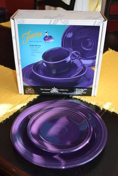 Things that are purple in color: Fiesta® Plum Dinnerware Purple Plates, Purple Table, All Things Purple, Purple Stuff, Purple Kitchen, Purple Home, Malva, Light Side, Purple Reign
