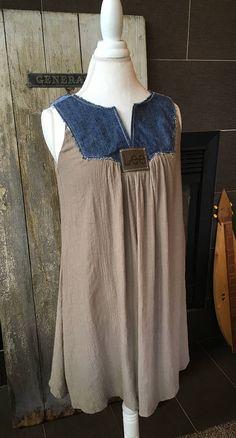 Sleeveless Dress Denim Brown Dress Sleeveless Dress Women