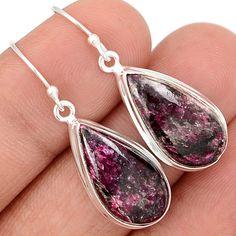 Eudialyte 925 Sterling Silver Earrings Jewelry EDLE49 - JJDesignerJewelry