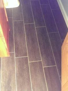 Groutable Vinyl Tile. My Husband Finally Agreed To Trying This In The Small  Bathroom.