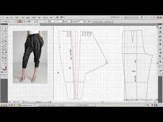 Model uygulamalı pantolon kalıbı 5 / Pants pattern overlay model applied 5