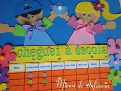 Attendance Board, Frames, School, Childhood