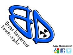 http://www.bryandangerous.com Comedy Juggling Logo Bryan Dangerous