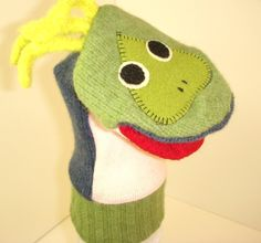 Puppet named Ruthie  made of 100% recycled wool sweaters by thecreativefrog on Etsy https://www.etsy.com/listing/89779157/puppet-named-ruthie-made-of-100-recycled