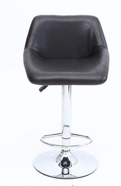 black seat bar chair free shipping PU leather office computer stool coffee house chair red white color