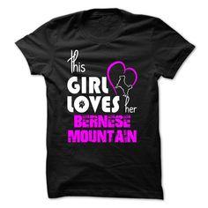 girl loves her Bernese Mountain