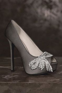 Wedding Shoes: White by Vera Wang, Spring 2013. To see more wedding ideas: www.modwedding.com #WeddingAccessories #weddingshoes
