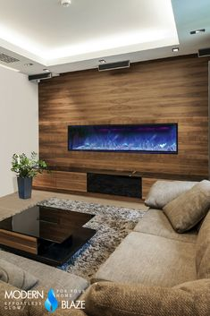 6 Foot Modern Built In Electric Fireplace With Multicolor Flame, Optional  Heat,