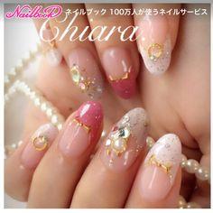 艶キラ✨ French♡ design♥︎Instagram → yochan4.nail ネイルデザインを探すならネイル数No.1のネイルブック