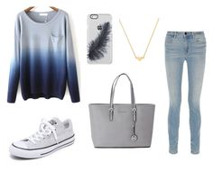 """""""#style #blue #grey"""" by itsjuliexx on Polyvore featuring Mode, Alexander Wang, Converse, Michael Kors und Stella & Bow"""