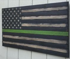 Custom Wooden flag art, crafted to appear salvaged from a burned-out building. Wooden flags of freedom!