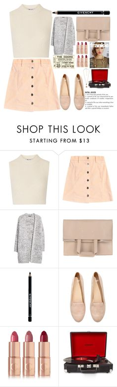 """Untitled #26"" by experimental-m ❤ liked on Polyvore featuring T By Alexander Wang, MANGO, Maison Margiela, Givenchy, H&M, Charlotte Tilbury, Crosley Radio & Furniture and Forever 21"