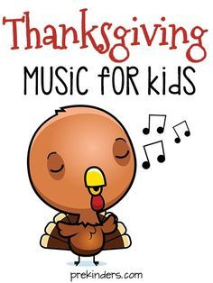 Thanksgiving Music for Kids! Fun Thanksgiving songs for preschool and kindergarten.