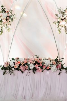 Blush pink spring wedding reception decorations for sweetheart tables using chiffon tulle CV Linens table skirts, backdrops, flower centerpieces, backdrop drapes and more! Flowy fluffy chiffon and tulle table skirt for wedding decorations, sweet 16 decorations, quinceanera decorations. #springweddingideas #springweddingcolors #springweddingflowers #pinkweddingtheme #sweethearttablewedding Sweet 16 Decorations, Spring Wedding Decorations, Quinceanera Decorations, Spring Wedding Flowers, Wedding Ideas, Table Decorations, Tulle Table Skirt, Table Skirts, Blush Roses