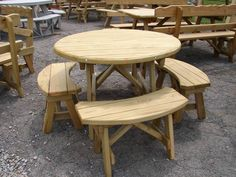 The picnic table plans include plans for traditional Also But it Get a square or rectangular section of wood planks from which to cut your circle