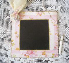 Decoupage mini blackboard Christening  by FavorsAndMorebyFiona, $6.16