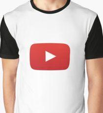 Youtube Logo Sticker Graphic T-Shirt