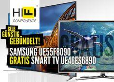 http://blog.hificomponents.de/aktionen/super-samsung-tv-bundle-angebot-mit-gratis-samsung-tv-geschenkt/ Kaufe Dir den High-Class Shooting-Star TV Samsung UE55F8090 (zu dem muss nichts mehr gesagt werden) mit 100 € Rabatt für  2399 € (statt normal 2499 €)  und Du bekommst GRATIS den High Class Smart TV UE46ES6890 dazu!