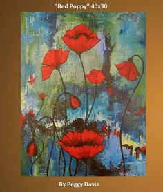 """abstract poppy paintings 