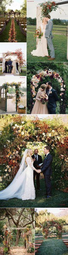 Ideias para casamento no Outono Dream Wedding, Wedding Day, Chuppah, Marry Me, Celebrity Weddings, Bridal, Wedding Colors, Wedding Ceremony, Rustic Wedding