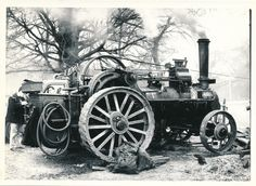 Steam Tractor Engine Photo 760 | eBay Steam Tractor, Steam Engine, Locomotive, Vintage Photos, Tractors, Automobile, Engineering, Old Things, Black And White