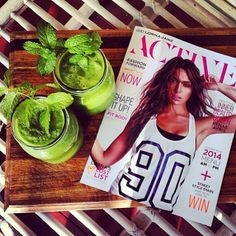Green juice & afternoon read
