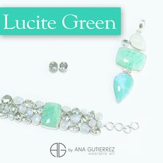 Costa Rican Designer. LUCITE GREEN is a stimulating color that is as smooth and refreshing as mint. Discover our collections.  Follow us Twitter, Instagram y Pinterest: Ana Gutierrez Art. Ana Gutierrez #WearableArt. #CostaRica #Designer #fashion #jewels #jewelry #moda #joyas #pantone2015 #lucitegreen #FashionColorReport