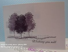 One layer card by Monika featuring stamps from the VIGNETTE: Tree Silhouette set (stamplorations.com)