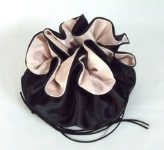 Wedding Bag Satin Bridal Money Purse Black and by EdieCastle Wedding Bags, Drawstring Backpack, Satin, Money, Purses, Bridal, Trending Outfits, Unique Jewelry, Handmade Gifts