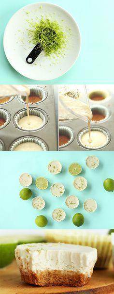 7 Ingredient Vegan Key Lime Pie Bites! Super easy + so creamy and delicious!   #vegan (#glutenfree optional)