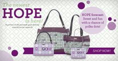 "For every ""HOPE"" shell purchase...Miche donates Five Dollars to the Huntsman Cancer Institute!"