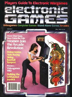 Electronic Games Magazine May 1982 Issue Vintage Video Games, Classic Video Games, Retro Video Games, Gaming Magazines, Video Game Magazines, Computer Video Games, Gaming Computer, Consoles, Alone Game
