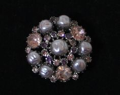 Vintage Weiss Faux Pearl and Purple/Pink Stone by SideDoorCouture