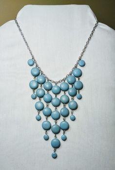 Blue Bib necklace.