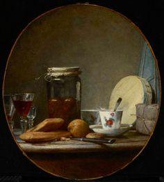 Chardin, Jean-Baptiste - Bocal d'abricots - Art Gallery of Ontario, Toronto