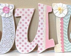 Custom Wooden Nursery Letters Baby Name by TheRuggedPearl on Etsy