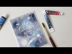 video tutorial: Lucky Stars Watercolor Galaxy - YouTube ... great info and fab finished card ...