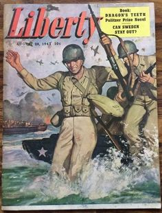 Vintage Liberty Magazine 8/28/1943