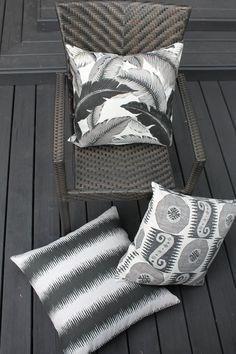 Ikat Decorative Designer  Black Stripe Accent Pillow Cover image 3 Giant Floor Pillows, Patio Pillows, Black Interior Design, Black And White Interior, Black Feature Wall, Diy Pouf, Vintage Camper Interior, Floor Pouf, Black Pillows