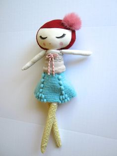 Custom Classic Cloth Doll by Mend by MendbyRubyGrace on Etsy