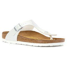 19cb03c83fc123 Birkenstock Gizeh Birko-Flor™ Pearly White Birkenstock Sandals